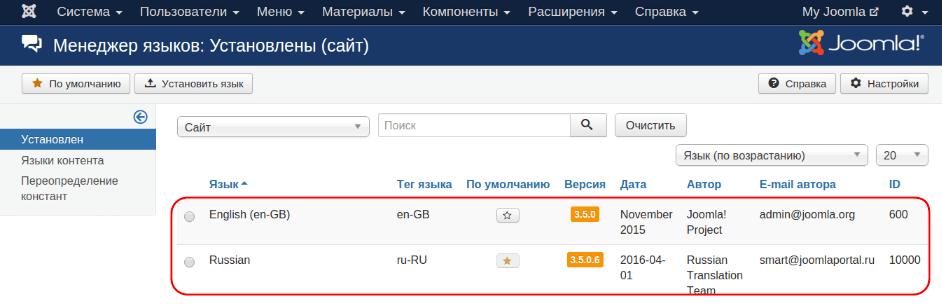 Как сделать сайт на двух языках joomla ucoz учебник создание сайтов скачать