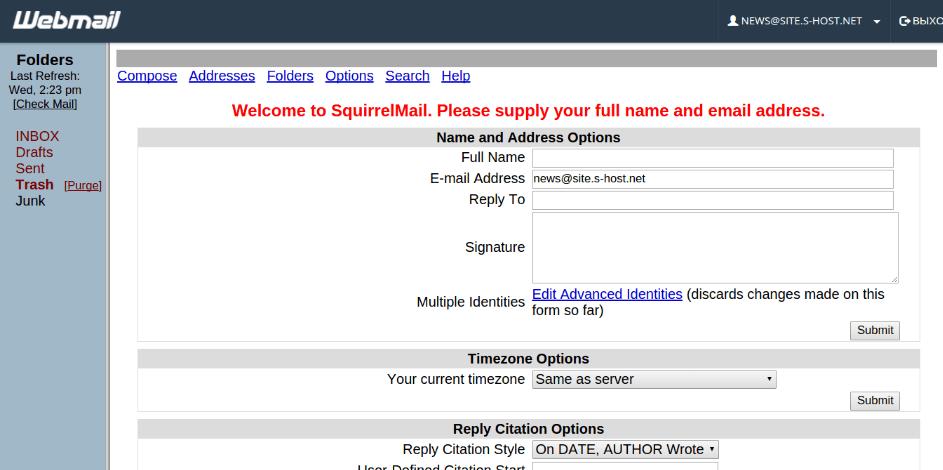 хостинг сайт почта